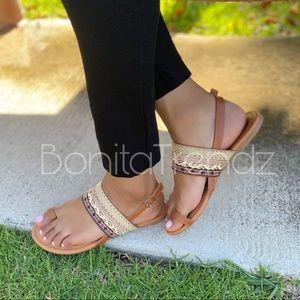 Vegan Tribal Style Toe Sandals